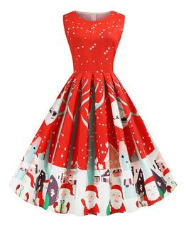 Vestido De Fiesta Estilo Navidad De Santa Claus Para Mujeres