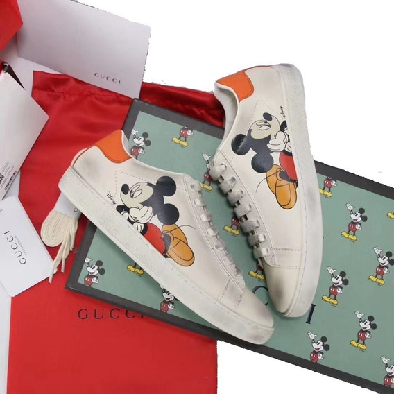 Tenis Gucci Ace Disney Mickey Mouse En Caja Factura Usd