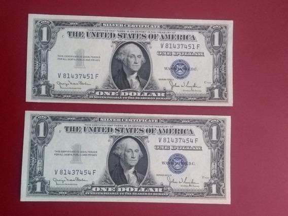 Billetes De 1 Dólar En Perfecto Estado Selló Azul Año 1935