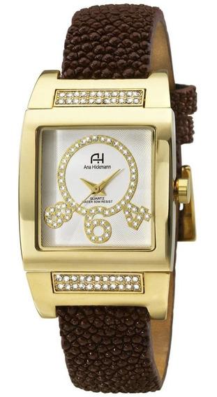 Relógio Feminino Ana Hickmann Analógico Ah28062b Dourado