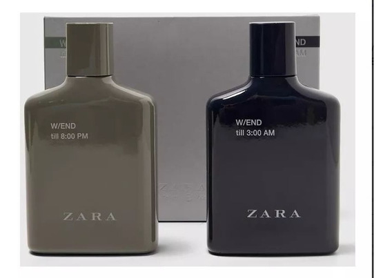 Perfumes Zara W/end 3:00 Am + W/end 8:00 Am 100 Ml Lacrado!