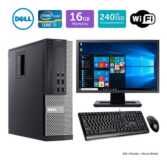 Computador Usado Dell Optiplex 9020sff I7 16gb Ssd240 Mon19w