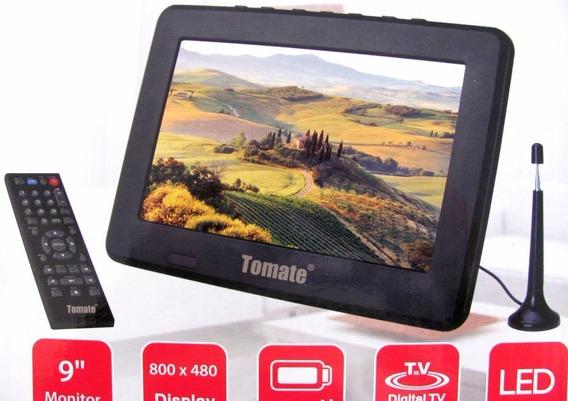 Tv Portatil Lcd 9 Polegadas Tela Monitor Tomate Mtm 909
