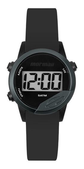 Relógio Unissex Mormaii Mude Mo4100ab/8p - Preto