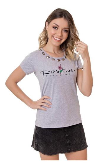 T-shirts Com Pedra Blusa Roupa Feminina Atacado Revenda
