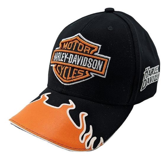 Boné Harley Davidson Motor Company Bordado Aba Curva Aberto