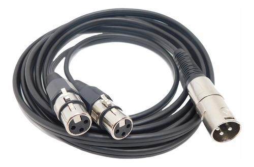 Imagen 1 de 3 de Cable Adaptador Canon Macho A 2  Canon Hembras Mono X 3 Mts