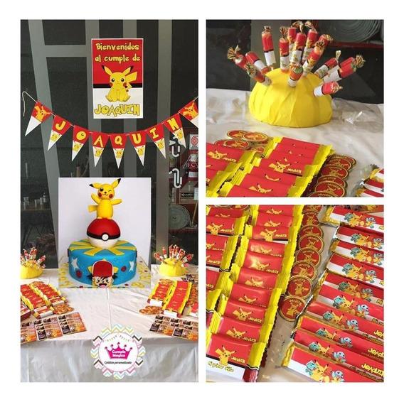 Pokemon Pikachu Golosinas Personalizadas Etiquetas Candy Bar