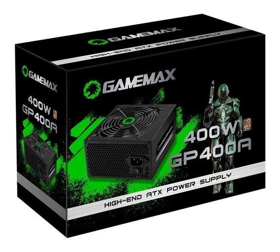 Fonte Gamer 400w Gamemax Gp400a 80 Plus Bronze Pfc Ativo Atx