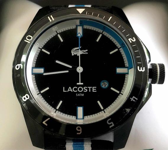 Reloj Lacoste Hombre Original Acero, Brazalete Piel Textil-