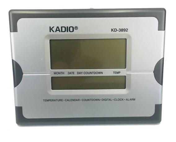Reloj De Escritorio Digital Fechador 26 Cm X 20 Cm Kadio 92