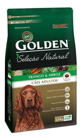 Ração Golden Seleção Natural Cães Adultos Frango - 3kg