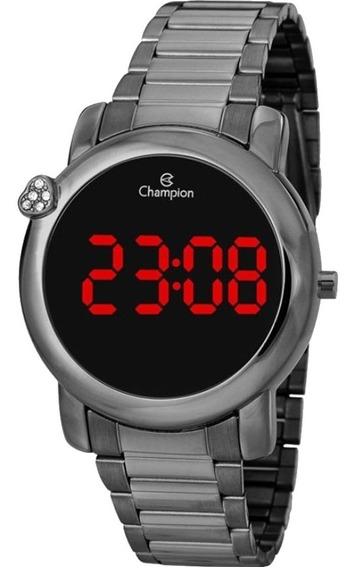 Relógio Champion Led Digital Feminino Ch48064c Grafite