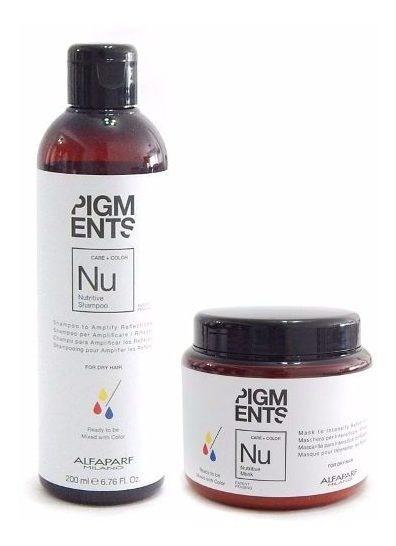 Kit Alfaparf Pigmentos Nutrición Y Color Shampoo + Máscara