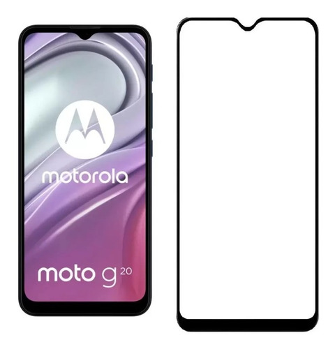 Imagen 1 de 1 de Vidrio Templado 9d Para Motorola G20 Full