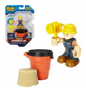 Bob El Constructor - Carpintero C/arena Kinetica Mash & Mold