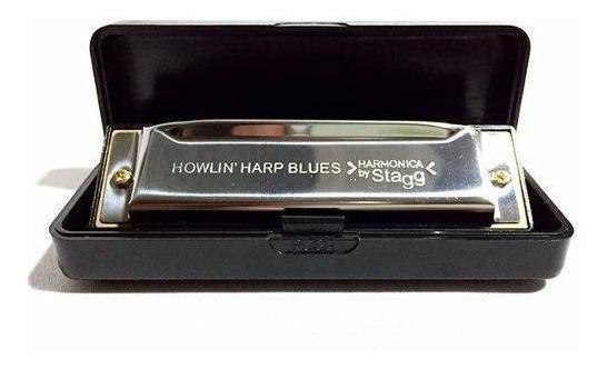 Gaita Stagg Harmonica Bjh B20c Em Dó Novo + Nf