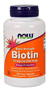 Biotina 5000mcg 60caps Now Foods - Envio Rápido E Imediato!