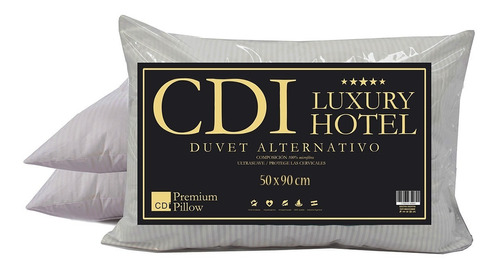 Imagen 1 de 6 de Almohada Simil Duvet Cdi Hotel King Size 90x50cm