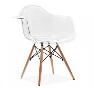 Cadeira Charles Eames Com Braço Transparente - Design