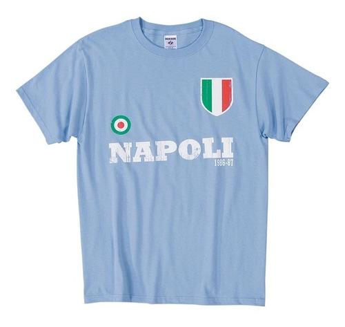 Camiseta De Algodón Del Napoli 1986-87