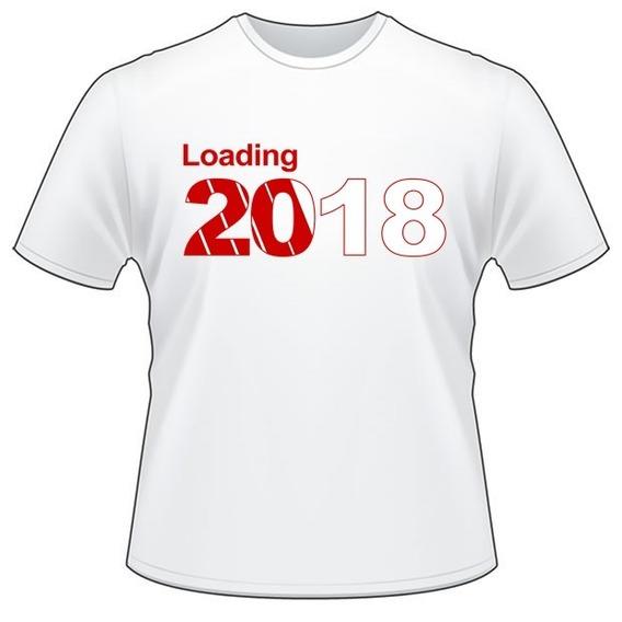 Camiseta Poliéster Feliz Ano Novo / 2018