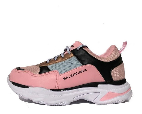 Tenis Balenciaga Triple`s Infantil Rosa Meninas 2019