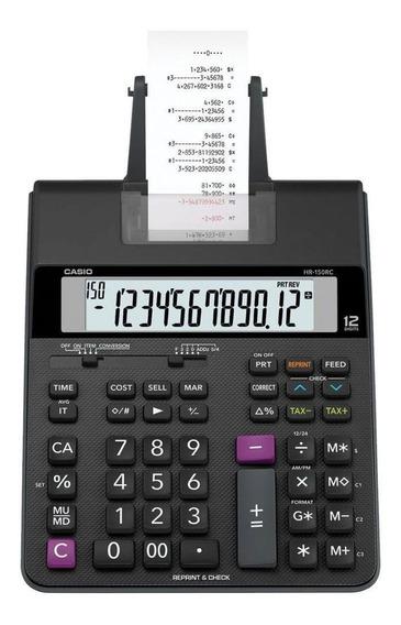 Calculadora Com Bobina, 2 Cores De Impressão, Hr-150rc