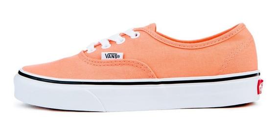Tenis Vans Unisex Naranja Authentic Peach Pink Vn0a38emq6n