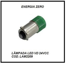 Lampada 24vcc Led Vd Baioneta Cod.lam2209 Frete Cr