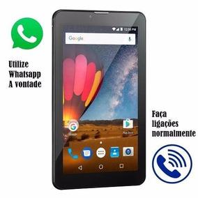 Tablet Preto Com Entrada Para Chip (lancamento 2018)