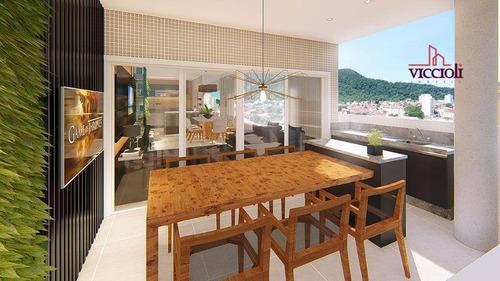 Apartamento Com 3 Dormitórios À Venda, 132 M² Por R$ 929.865,00 - Canto Do Forte - Praia Grande/sp - Ap1808