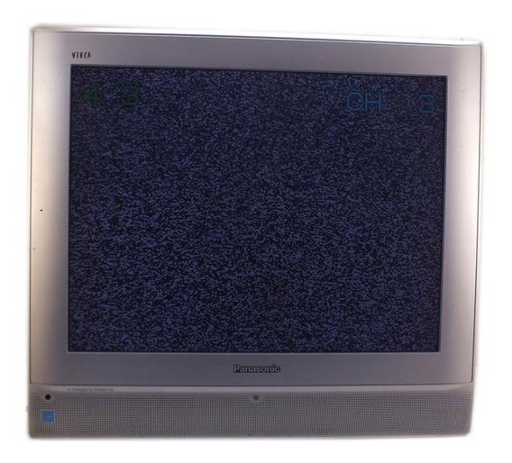 Televisão Tv Panasonic Tc-20les 20 Polegadas 110v Usada Mancha Na Tela Listra Verde Na Imagem Sem Controle A11304
