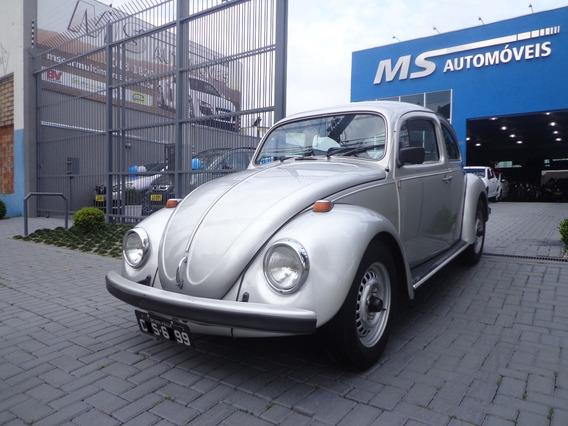 Volkswagen Fusca 1300 L Serie Prata Placa Preta
