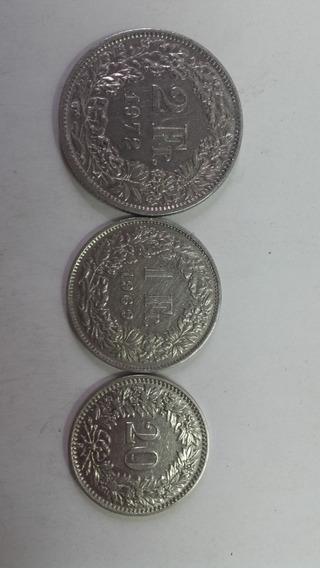 Monedas Suiza 1926/ 69/72