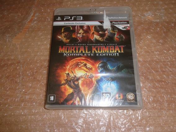 Mortal Kombat 9 Komplete Edition - Ps3 - Lacrado De Fábrica