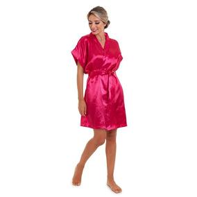 ff3c26a7e8ef76 Robe Cetim Rosa Pink - Moda Íntima e Lingerie com o Melhores Preços ...