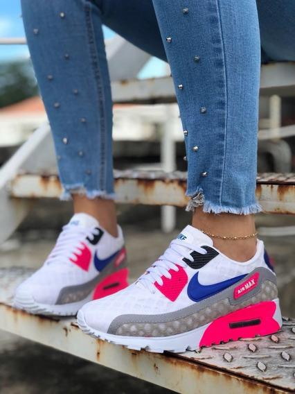 Tenis Zapatos Nike Air Max 90 Colmena Mujer + Envió Gratis