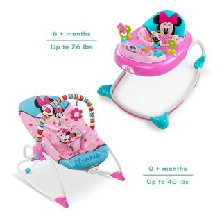 Silla Mecedora Y Caminador Bebe Minnie Mouse Disney Baby