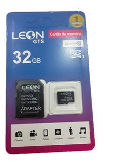 Cartão De Memoria Leon 32gb Classe 10 (frete Gratis)original