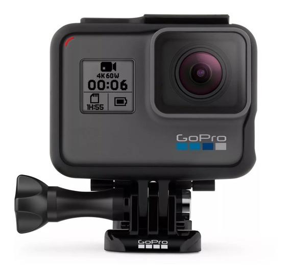 Camera Filmadora 4k Gopro Hero 5 Black Garantia 1 Ano - E-pack + Suporte P Cabeça E Capacete Head Strap + Nfe Seu Nome