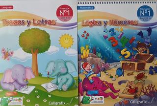 Pack Caligrafix Trazos Y Letras + Lógica Y Números N°1 V2020
