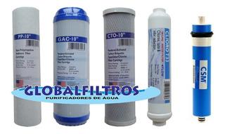 Kit Filtros Para Ultrapurificador De Água Por Osmose Reversa