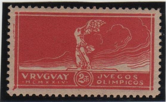 Estampillas Uruguay. Serie Victoria De Samotracia