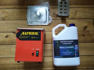 Tina Limpiador Ultrasónico Para Inyector Gasolina + Liquido