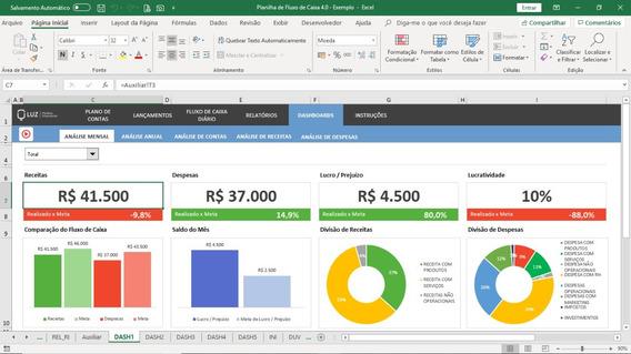 Fluxo De Caixa E Controle Financeiro - Planilha Excel