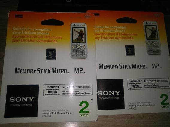 Cartão De Memória Memory Stick Micro M2 Sony