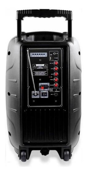 Caixa De Som Amplificadora Multilaser Trolley 150w - Sp200