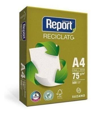 Papel A4 Reciclado 75g 210x297 500fls Report Reciclato
