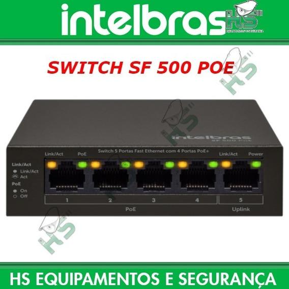 Switch Sf 500 Poe 5 Portas Fast Com 4 Portas Poe Intelbras